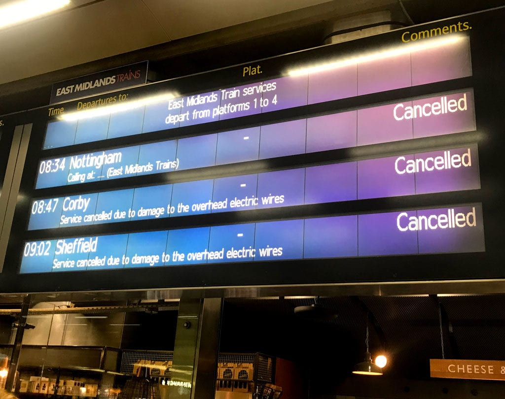 Journeys continue to be cancelled.