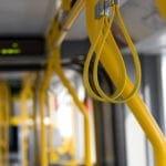 Manchester Metrolink tram interior seats subway train