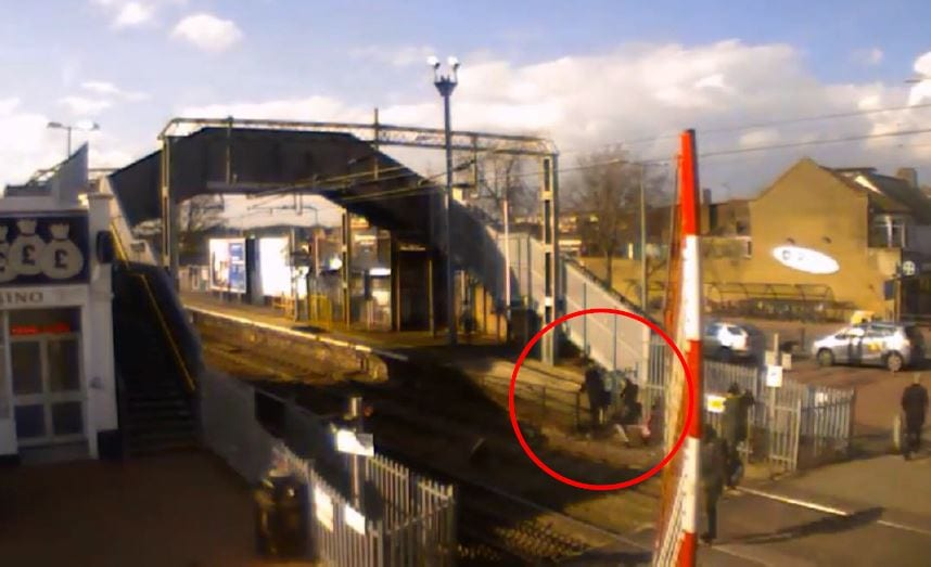 Footage from the tracks in Grays, Essex.