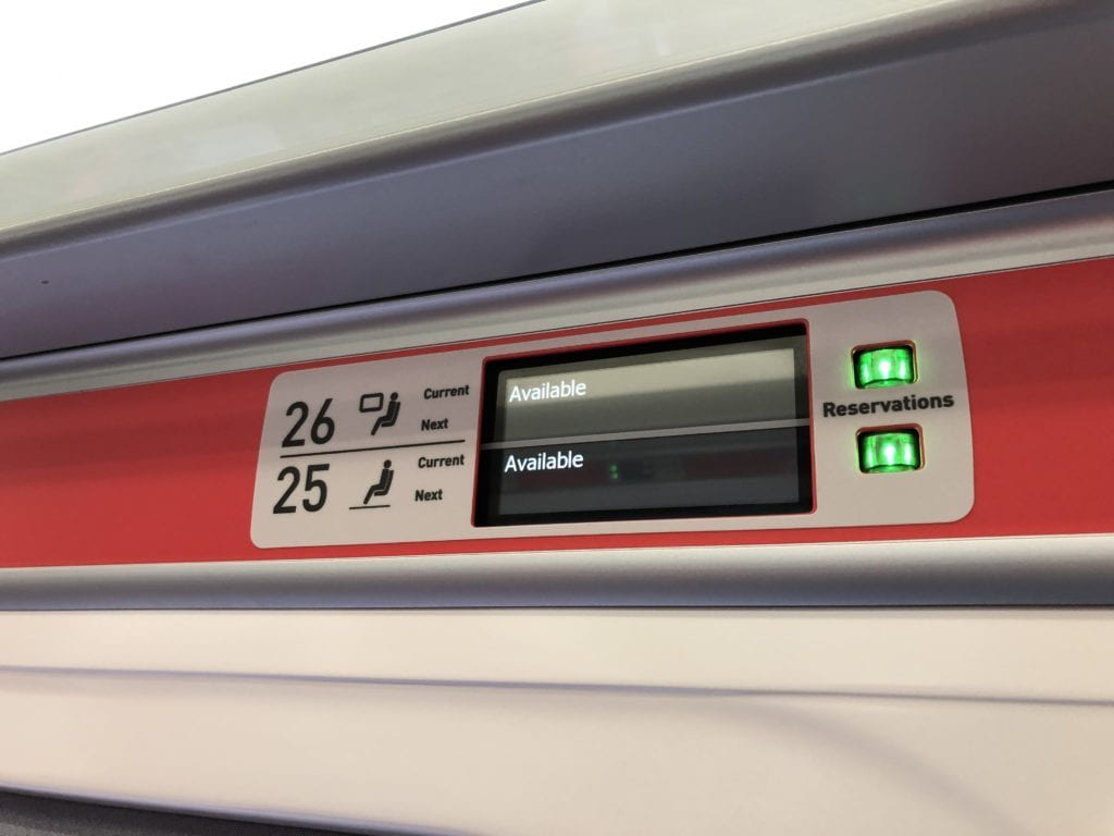 New reservation system on the Azuma trains