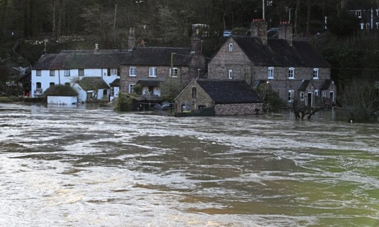 General view of flooding in Ironbridge, Shropshire, as the River Severn remains high, with warnings of further flooding across the UK. See PA story WEATHER Storm. Photo credit should read: Nick Potts/PA Wire