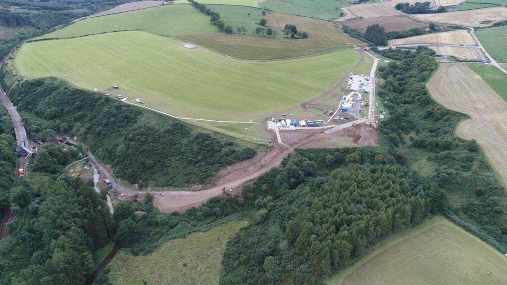 Stonehaven derailment scene. Photo: Network Rail