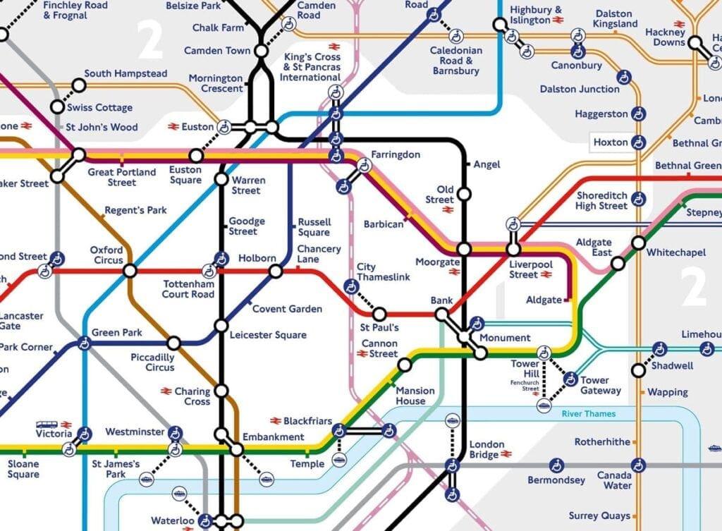 Thameslink map