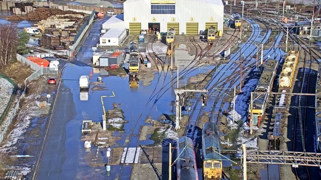 Storm Christoph impact on railway
