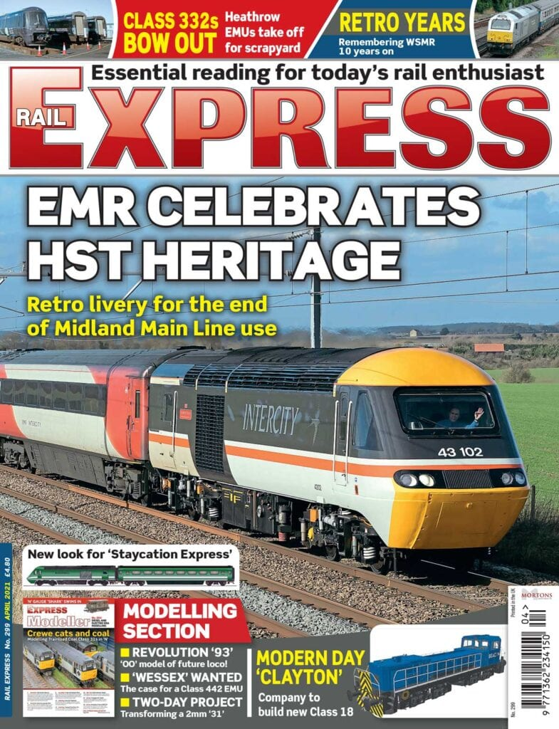 April issue of Rail Express magazine